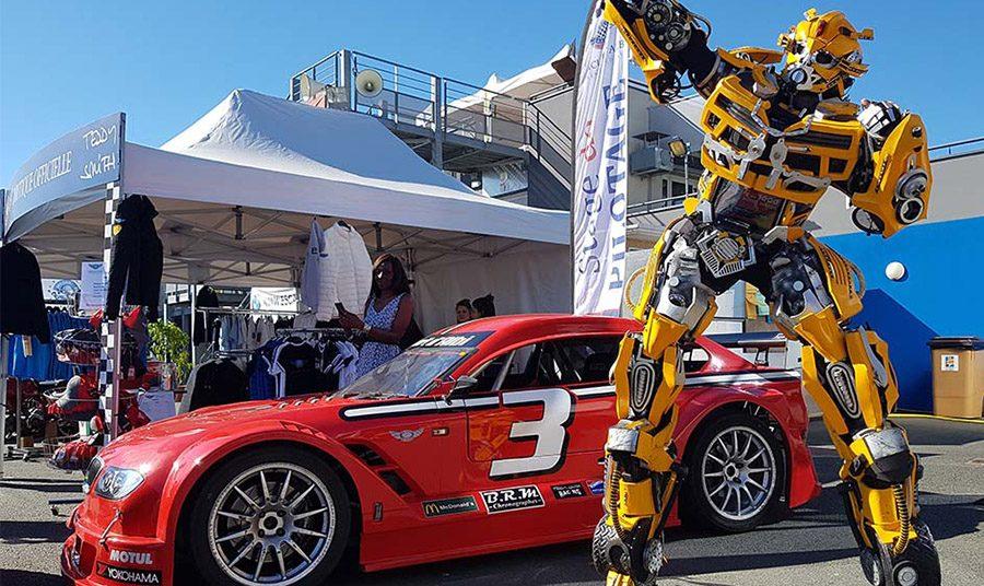Robot géant Bumblebee Lumynight Circuit d'albi