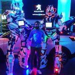 Robots Lumynight avec commercial Peugeot