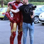 Iron Man Lumynight au Casino de Pau avec un photographe