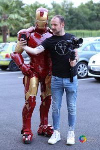 Iron Man Lumynight au Casino de Pau avec un photographe