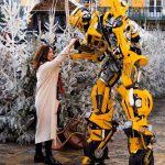 Robot Bumblebee au marché de Noël de Carcassonne